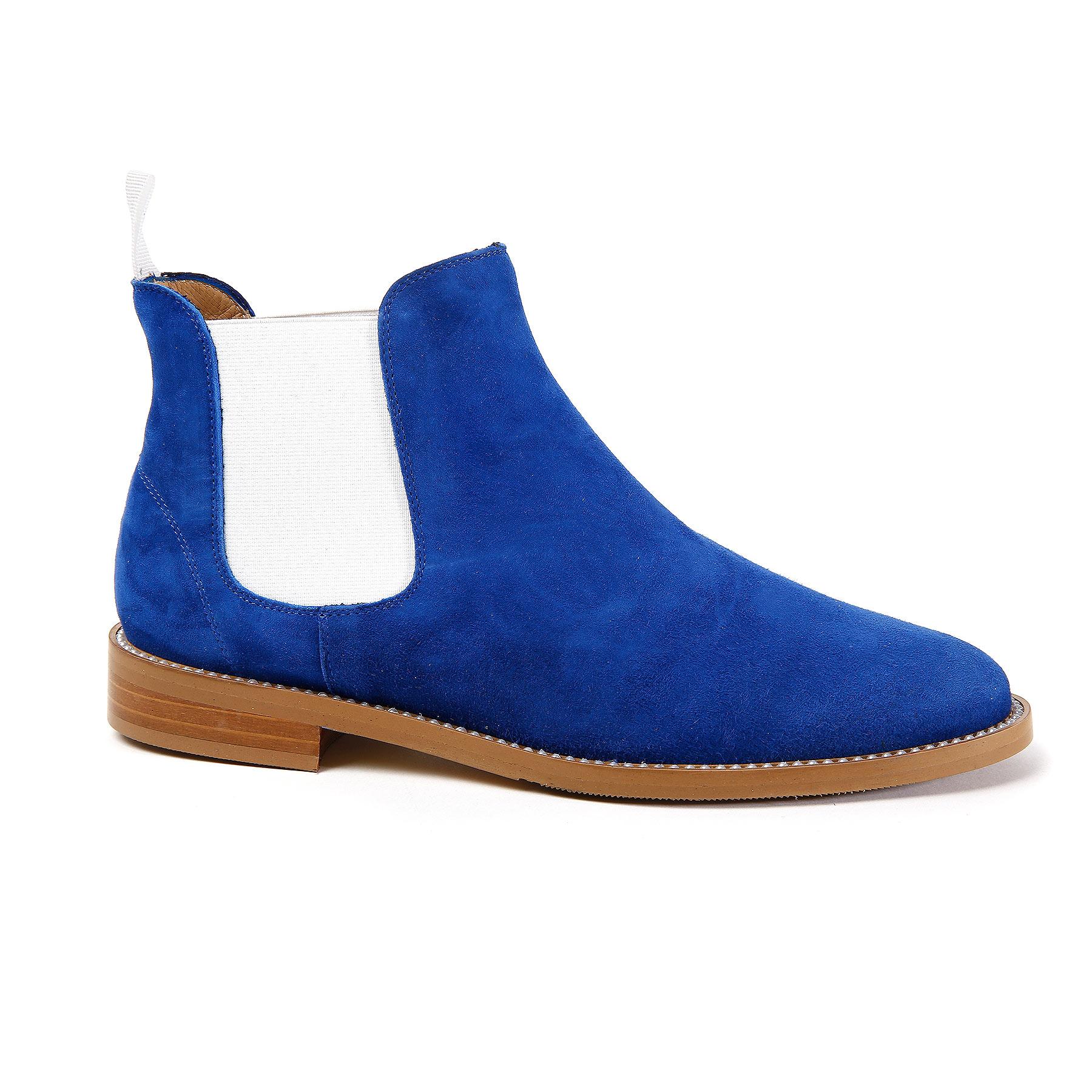 Royal Blue Suede Chelsea Boot – Nicola